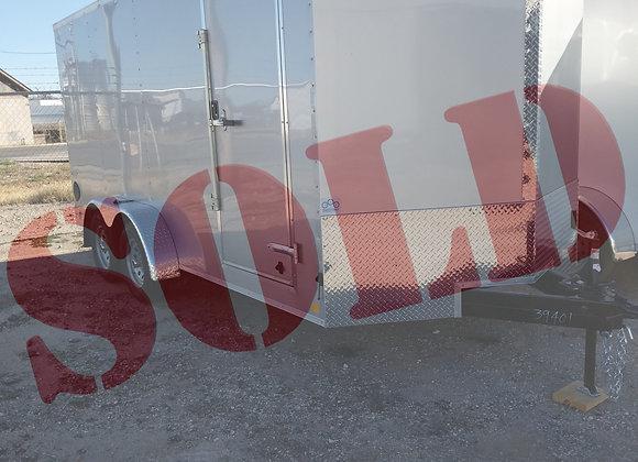 7x16x6'5' Cargo Ramp Door Silver