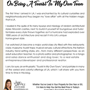 On Being A Tourist In My Own Town