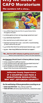 New JFAN Ad: Why We Need a CAFO Moratorium