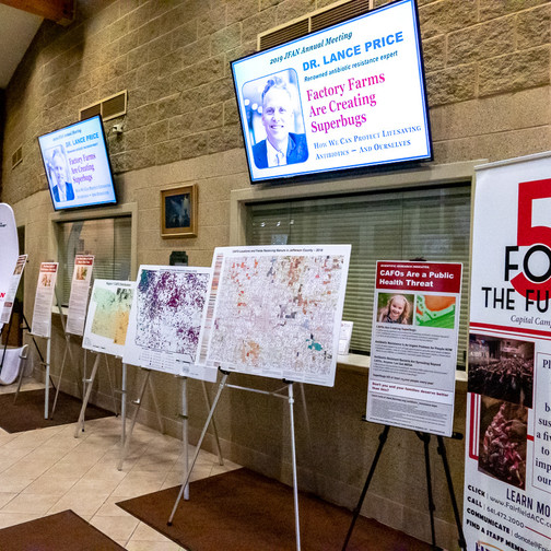 JFAN's maps and educational ads were on full display at the JFAN Annual Meeting.