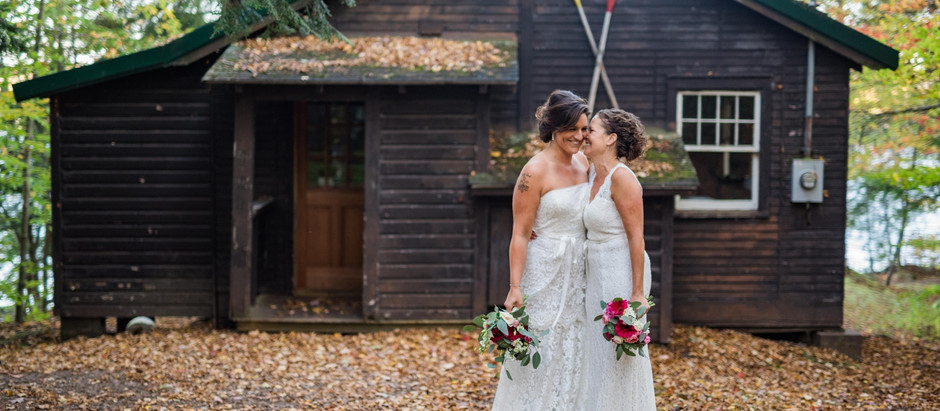 Candace & Sarah's Intimate Ceremony at Dyken Pond