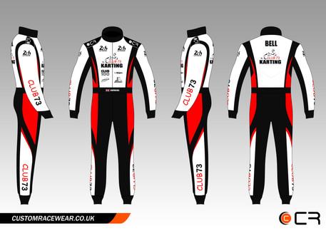 Club 73 Red Kart Suit