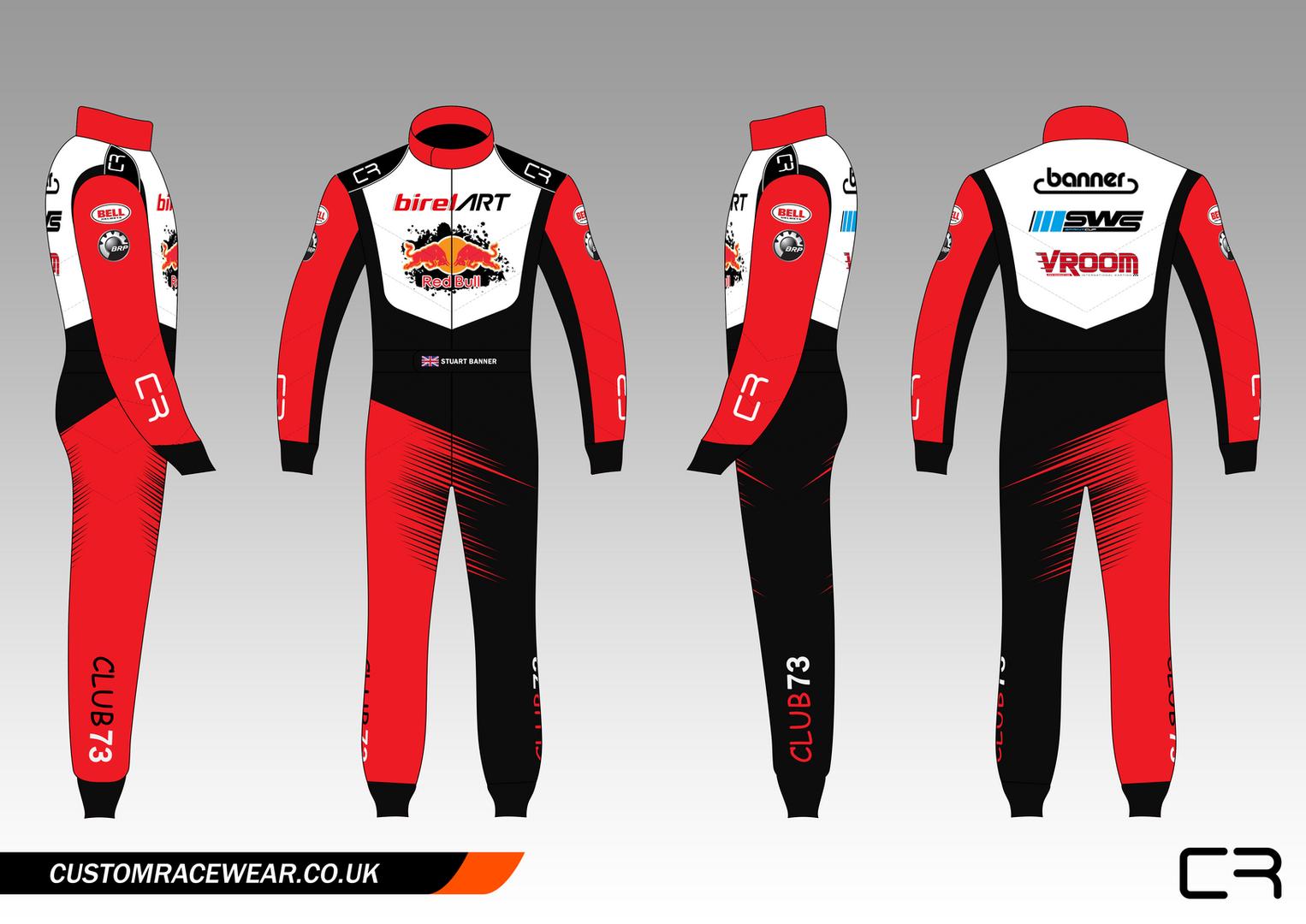 Sublimated Kart Suit Design