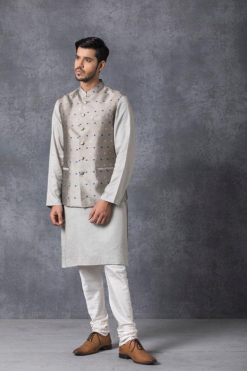Steel Grey Nehru Jacket