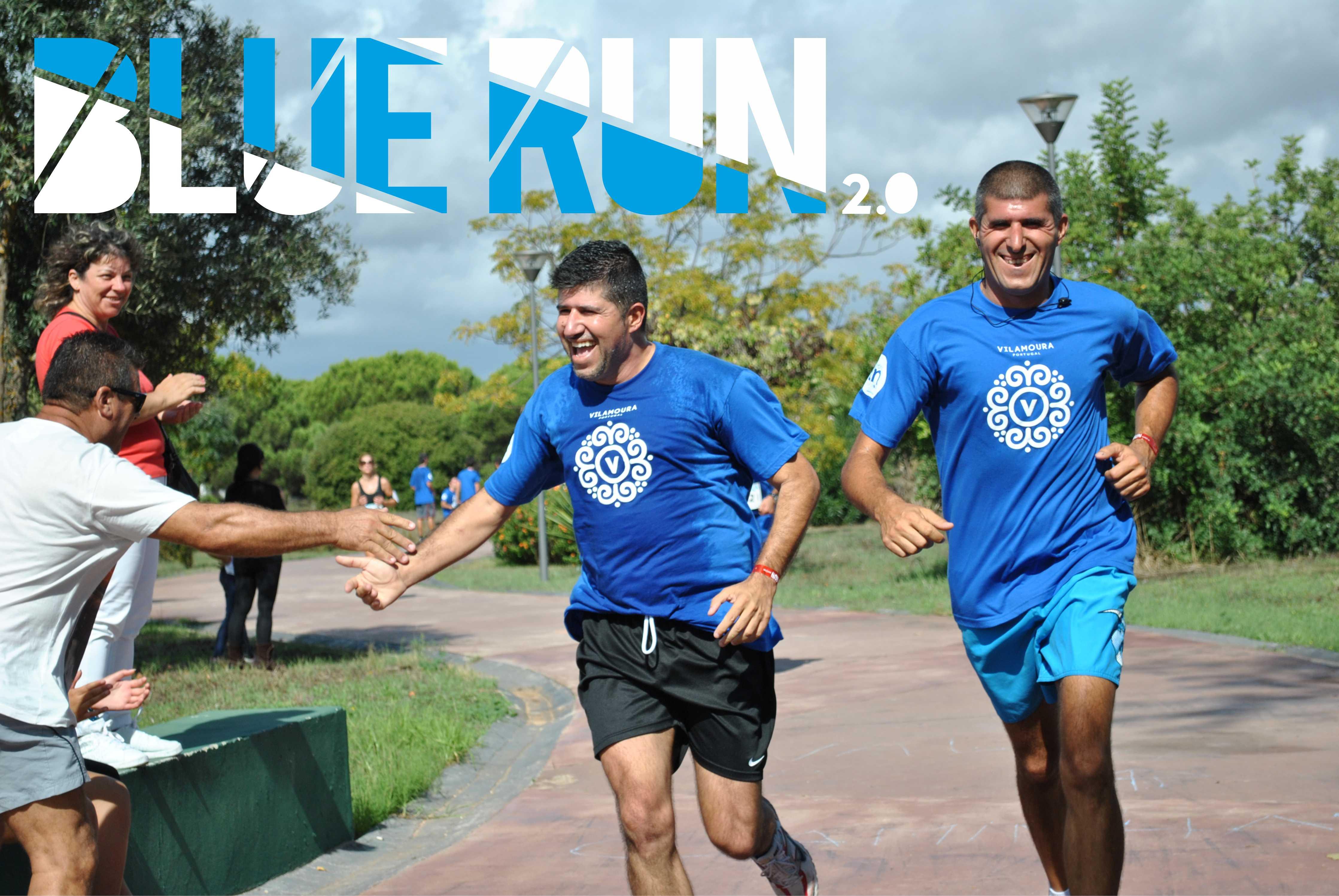 blue run 2.0 um evento social