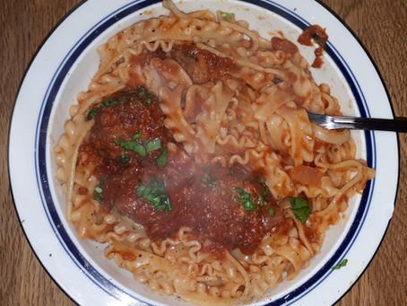 Spaghetti and 'meatless' balls