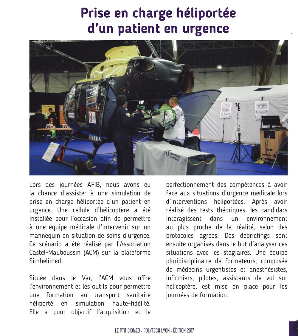 "Article extrait de ""le ptit biomed """