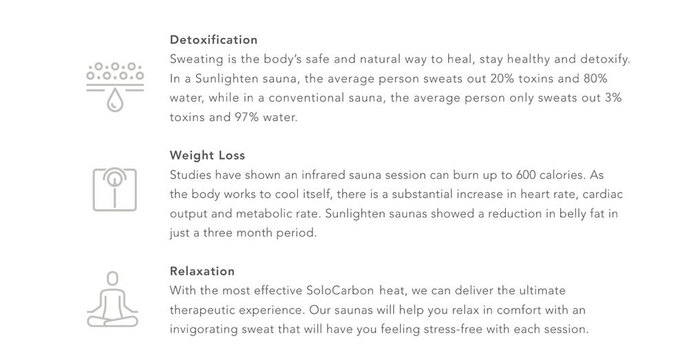 the kempinski clinic infrared sauna benefits detoxification weight loss relaxation