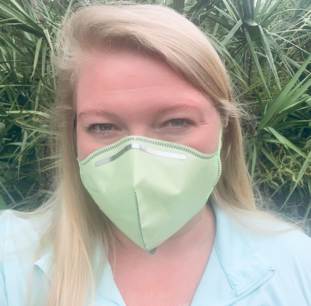 Lindsay Carretero wearing a mask