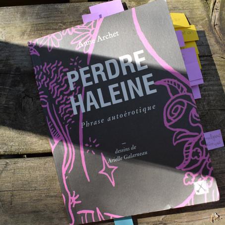 Perdre Haleine d'Anne Archet