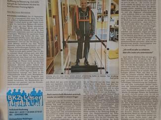 Toller Artikel in der Backnanger Kreiszeitung: Täglicher Kampf zurück ins Leben