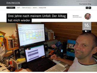 Neuer Bericht von mir auf dem offiziellen Daimler-Blog