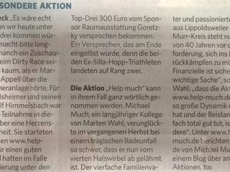 Bericht DirtyRace Marbacher Zeitung