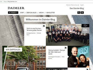 Bericht auf dem Daimler-Blog