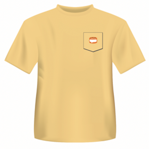Butter Yellow Pocket T