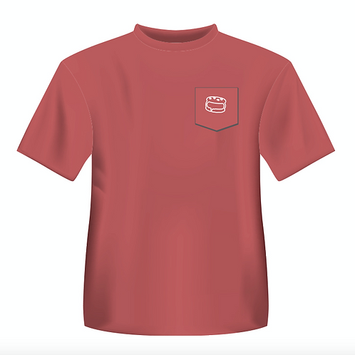 Chili Red Pocket T