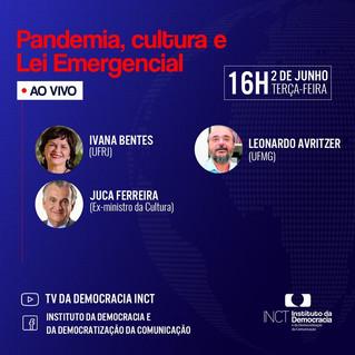 """Debate """"Pandemia, Cultura e Lei Emergencial"""" acontece na terça"""