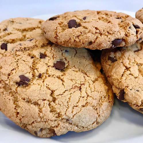 A Dozen Flourless Chocolate Chip Cookies