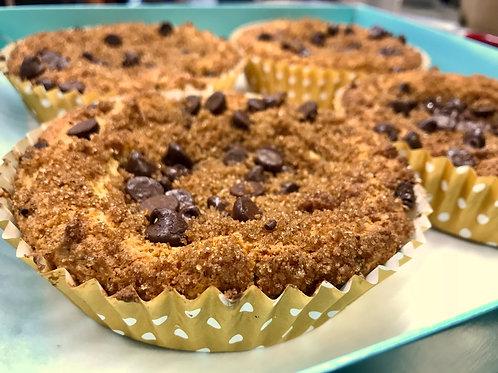 Eight Gluten Free Chocolate Chip Coffee Cakes