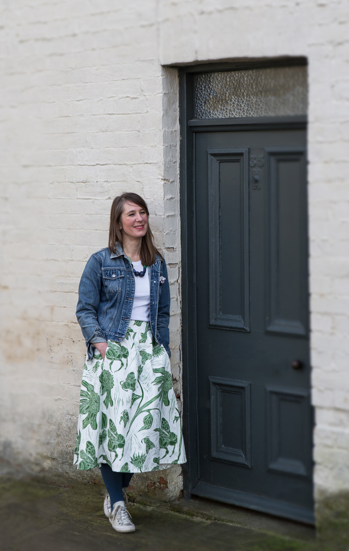 Pollination Skirt in Moss Green