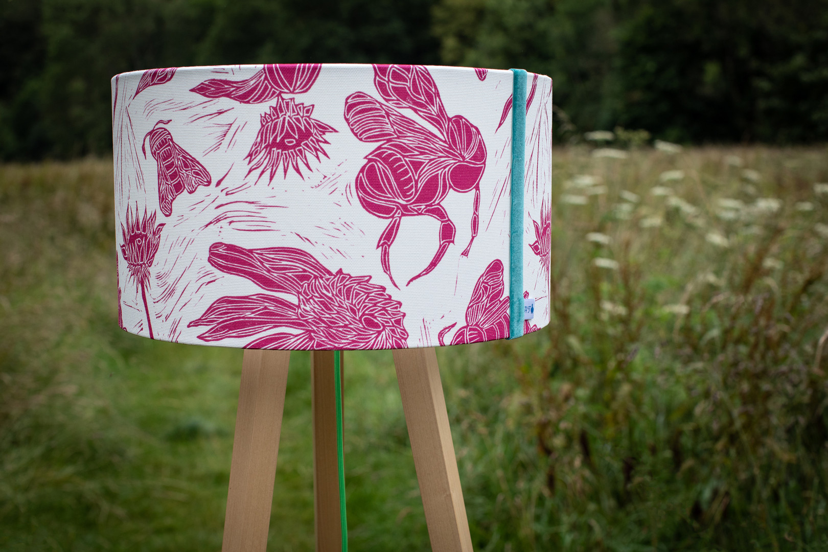 Pollination Lampshade in Glowing Pink