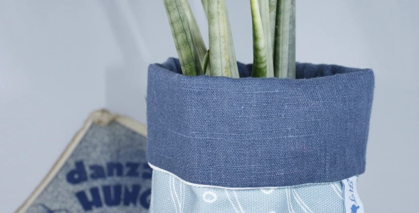 Fabric Plant Bag in Woodlouse Fabric
