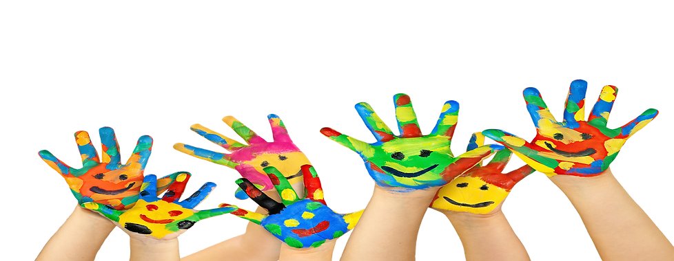 preschool learning, hand painting