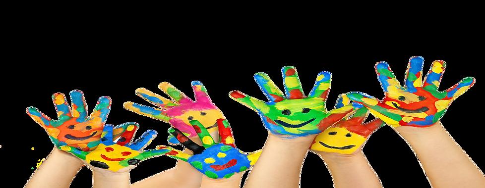 preschool learning, hand painting