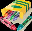 pre-k preschool, child development center, crayon icon