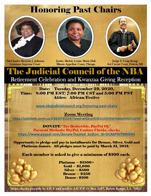 The Judicial Council NBA Retirement and