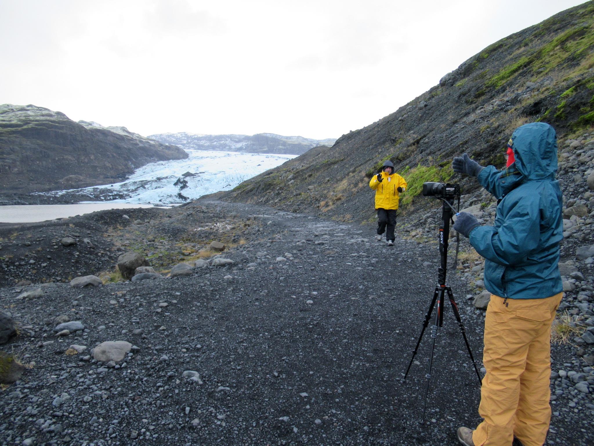 Behind the scenes - into the glacier