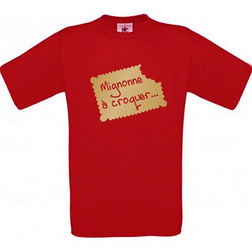 """T-shirt rouge """"MIGNONNE"""""""