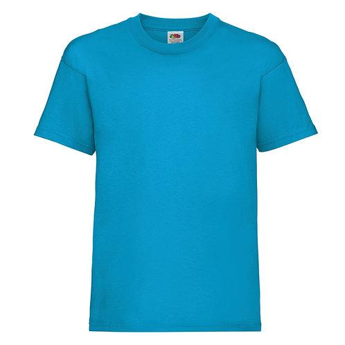 t-shirt enfant bleu azure
