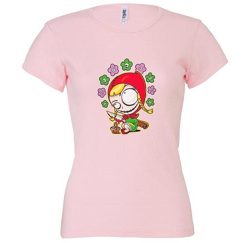 """T-shirt rose """"LOUP"""""""