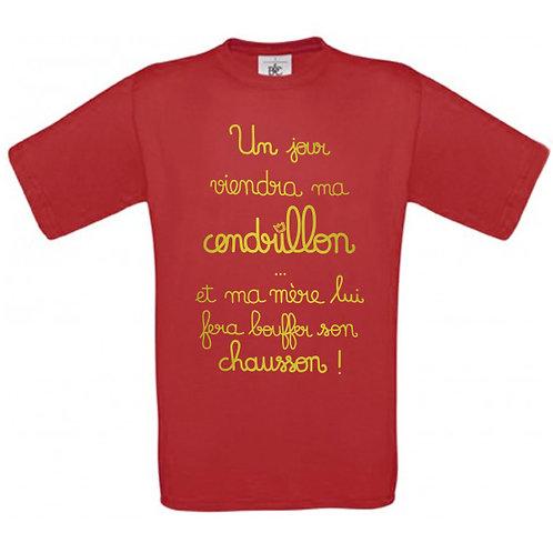 """T-shirt rouge """"CENDRILLON"""""""