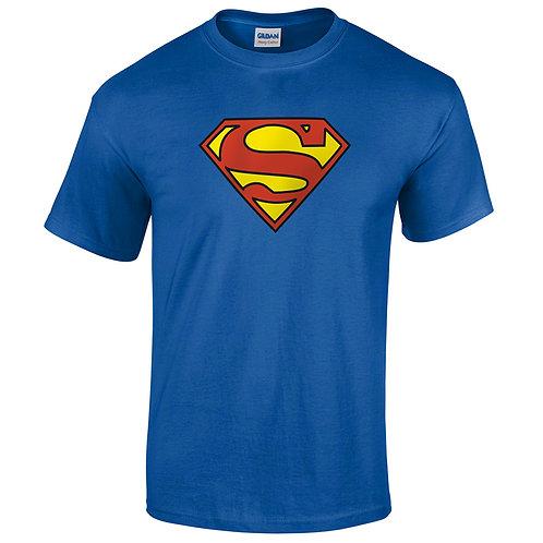 t-shirt superman bleu roy