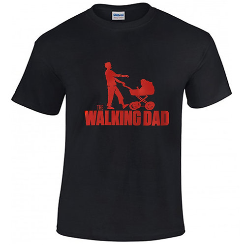 walking dad tee shirt noir