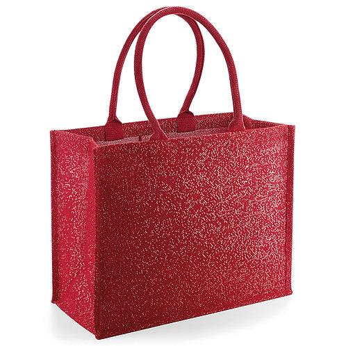 sac à paillettes rouge