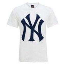 """T-shirt blanc  """"N Y"""""""