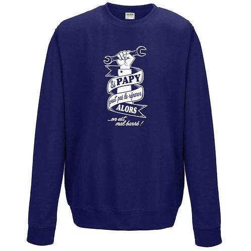 sweatshirt papy peut pas