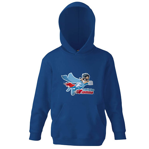 "Sweat bleu ""CAPITAINE FLAMME"""