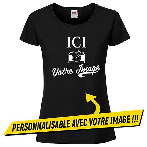t-shirt femme noir personnalisé