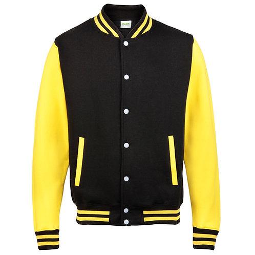 veste teddy noir et jaune