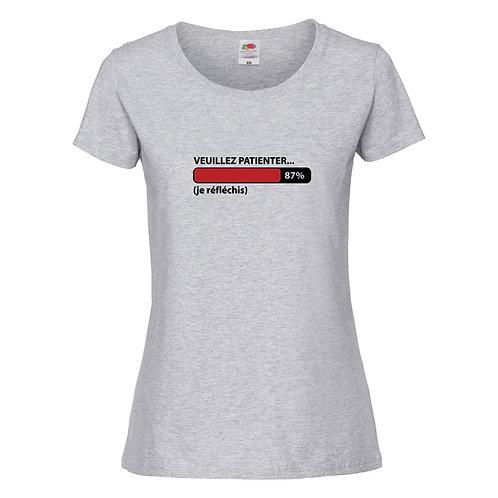 t-shirt veuillez patienter je réfléchis
