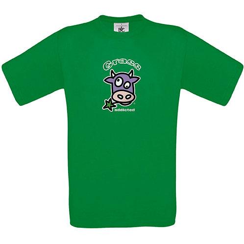 """T-shirt vert  """" GRASS ADDICTED """""""