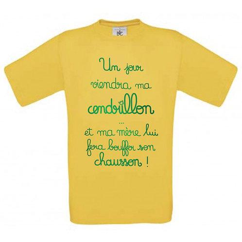 """T-shirt jaune """"CENDRILLON"""""""