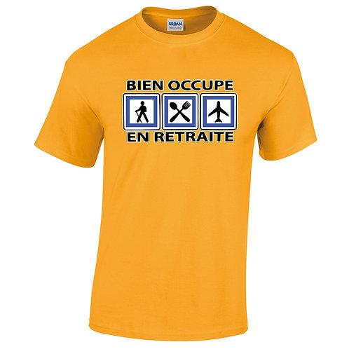 t-shirt occupé en retraite