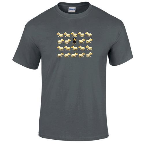 """T-shirt gris """" MOUTON NOIR """""""