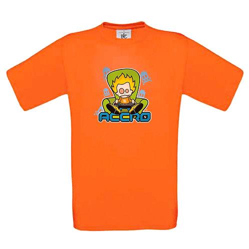 "T-shirt orange "" ACCRO """