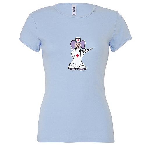 """T-shirt bleu """"INFRMIERE"""""""